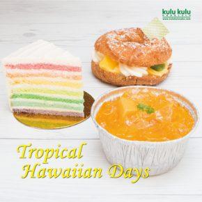 "July Theme is ""Tropical Hawaiian Day"" 7月はトロピカルフェア"